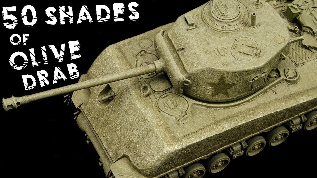 50 Shades Of Olive Drab! | M4A3E8 Sherman Easy 8 | Tamiya 1/48