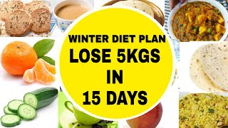Winter Weightloss Diet Plan To Lose 5 Kgs In 15 Days |  How To Lose Weight Fast | Rimi's Lunch Box