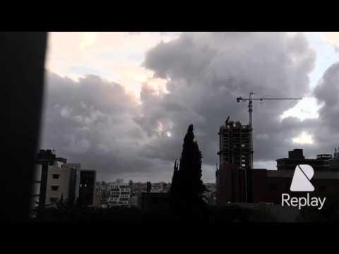 Beirut  sun set time laps