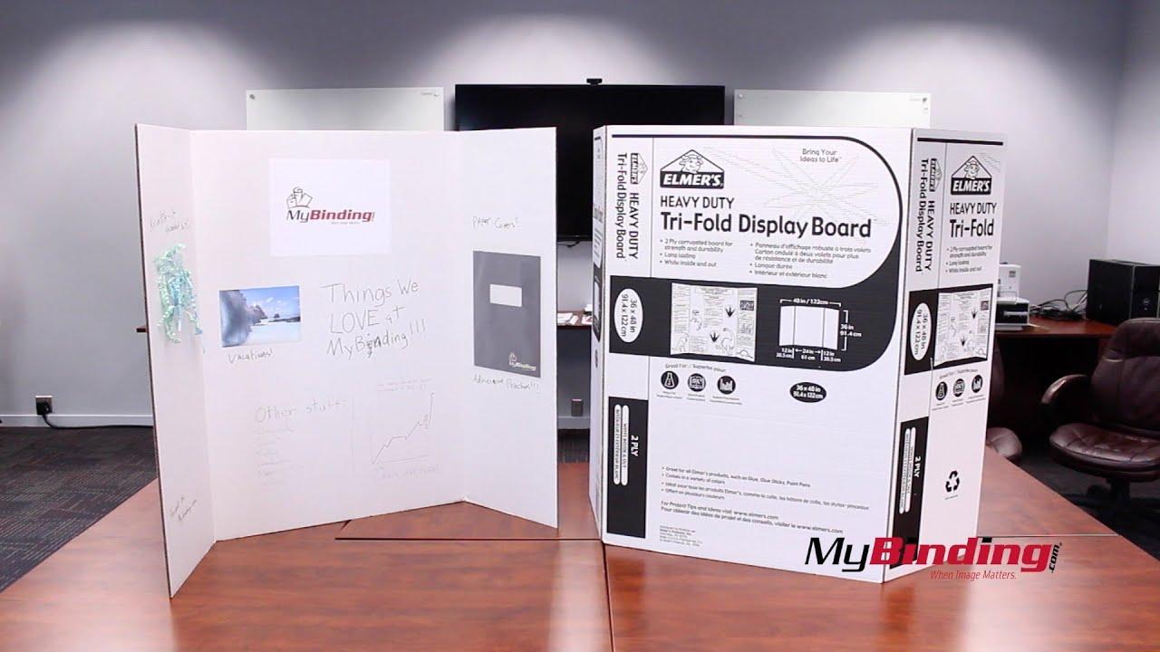 Elmers 36 X 48 Tri Fold Project Display Board 2 Ply Youtube