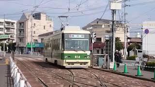広島電鉄800形814号 江波にて