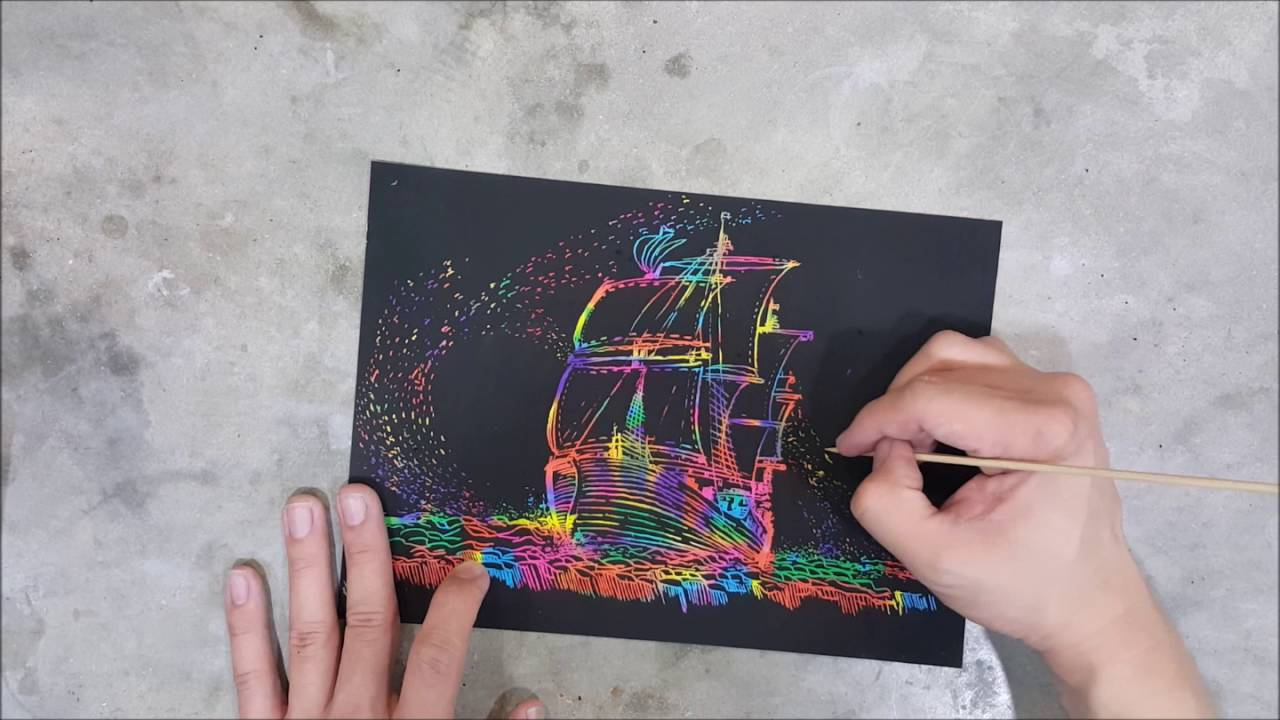 scratch paper Make your own scratch art paper for very little cost.