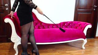 Repeat youtube video Femdom Whip & High Heels Worship - Extreme Feet Worship!