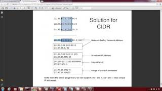 CIDR: Classless Interdomain Routing Example