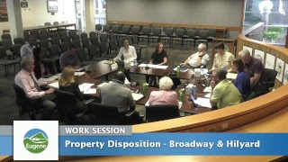 Eugene City Council Work Session: July 10, 2017