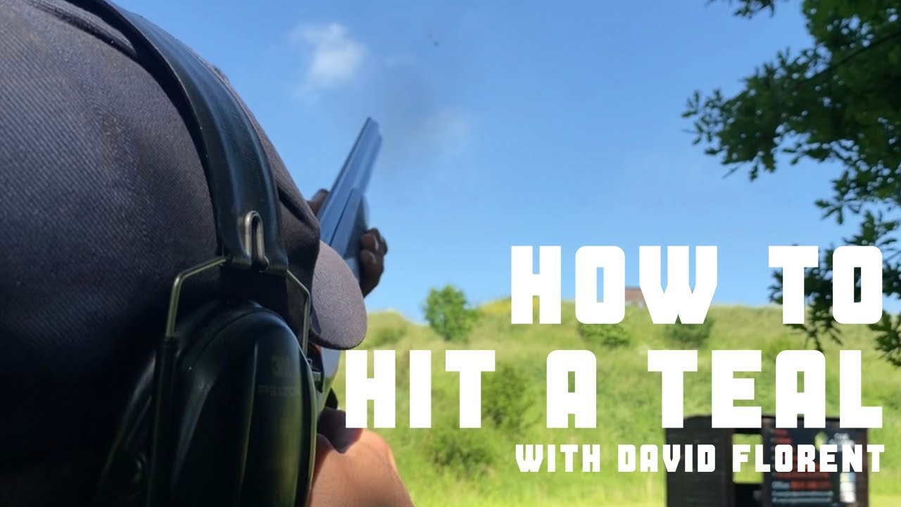How to hit a teal clay pigeon with David Florent