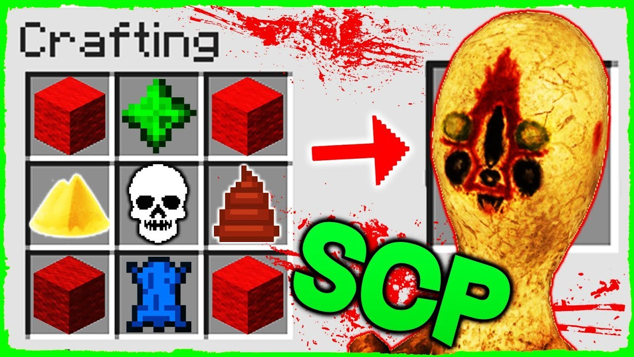Minecraft Scp How To Summon Scp 173 In Crafting Table Youtube