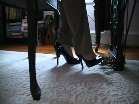 Daphne Playing Piano With Black Patent Heels Youtube