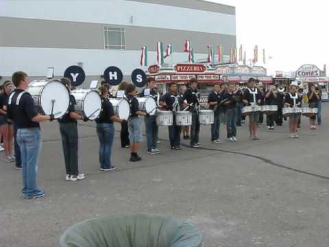 "York High School Band @ NE State Fair 2012 ""Wipe Out"""