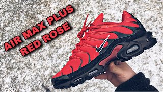 """NIKE AIR MAX PLUS """"RED ROSE"""" REVIEW AND ON FEET"""
