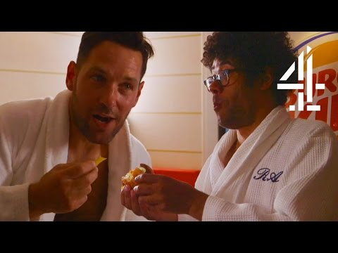Paul Rudd & Richard Ayoade Eat At Helsinki's Burger King Sauna | Travel Man: 48 Hours In...