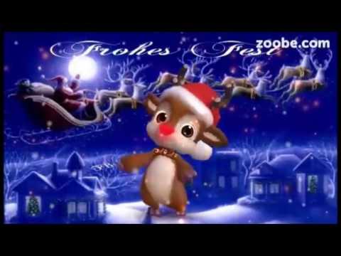 Frohes Fest🎄Ich schicke dir Weihnachtssterne⭐Weihnachten🎅Merry Christmas, Rudolf das Rentier