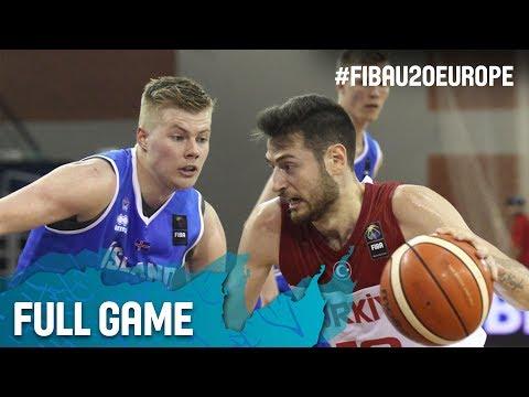 Turkey v Iceland - Full Game - FIBA U20 European Championship 2017