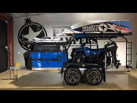 The ULTIMATE Off Road Toy Hauler Set Up - Patriot Campers Walkaround