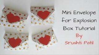 Mini Envelopes for explosion box Tutorial by Srushti Patil