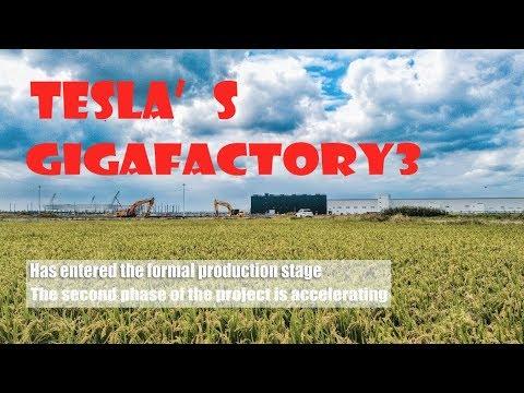 One Year\Tesla Gigafactory 3 In Shanghai特斯拉上海超级工厂\4K