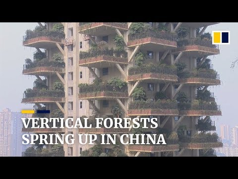 """Chinese housing projects go green with """"vertical forests"""""""