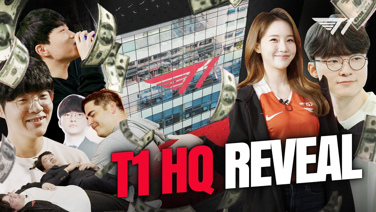 FIRST LOOK AT T1'S NEW GAMING FACILITY IN GANGNAM (English Tour)