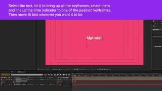 After Effects Material Design text animation preset - Free download