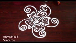 2 Amazing Beginners rangoli muggulu by Suneetha || Freehand rangoli & kolam designs