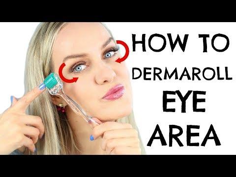 How to DERMAROLL eye zone - YouTube