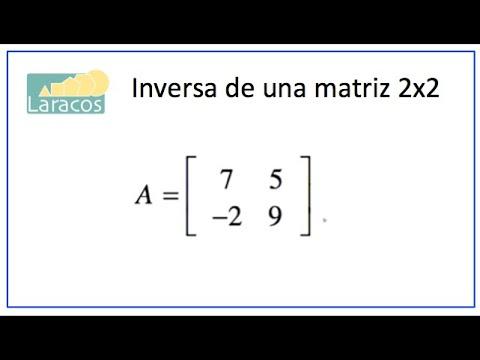 Como Determinar La Inversa De Una Matriz 2X2 (ejemplo 3)