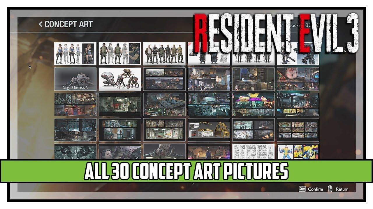 Resident Evil 3 Remake All Concept Art Showcase Youtube