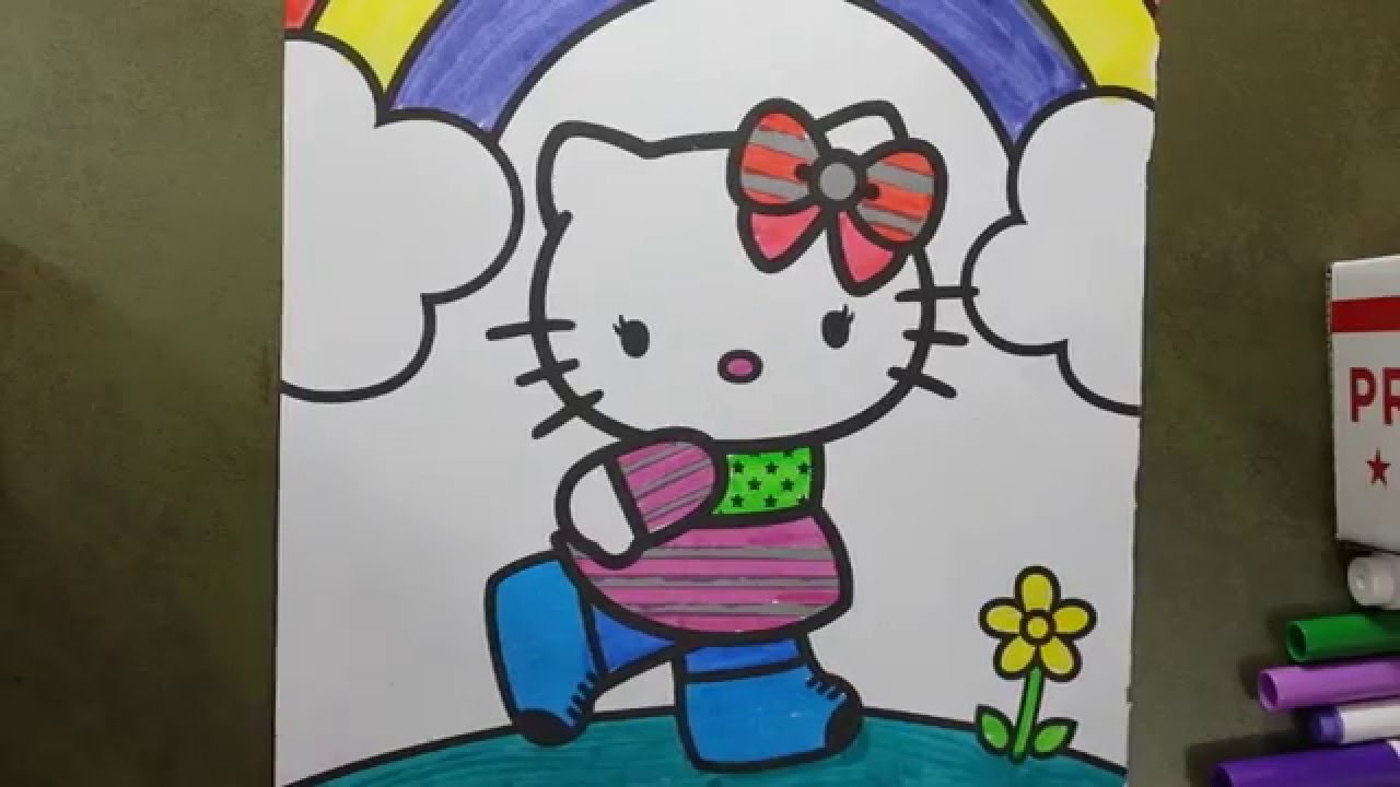 hello kitty coloring book fun kids coloring pages eotteohge