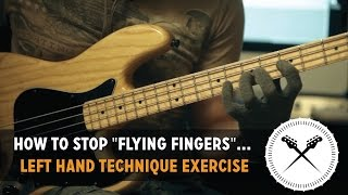 "How to stop ""Flying Fingers""... Left hand technique exercise // with Scott"