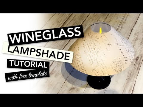 HOW TO make a small decorative Lamp with a Wineglass | TUTORIAL