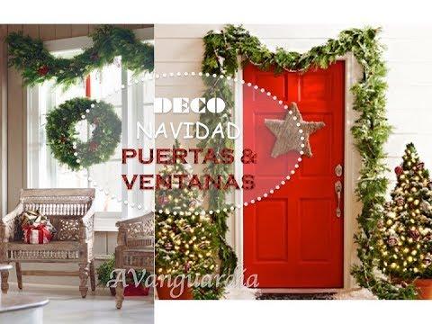 navidad 2018 ideas para decorar puerta y ventana en