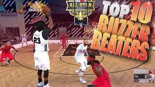 NBA 2K17 TOP 10 BUZZER BEATERS & Clutch Comebacks