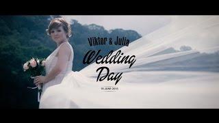 Свадебное видео. Очень красивая съемка видео Юлии и Виктора.