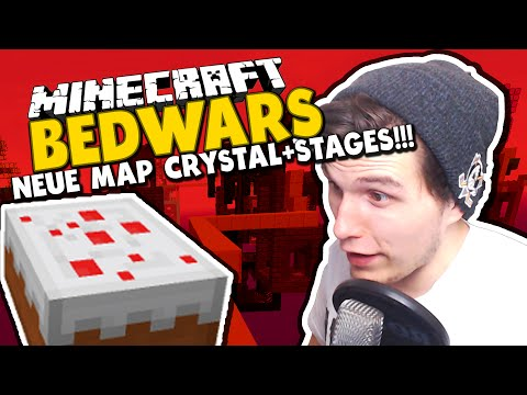 NEUE BEDWARS MAPS! - CRYSTAL+STAGES! ✪ Minecraft Bedwars Woche Tag 14
