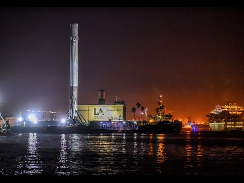 SpaceX Falcon 9 Arrives at the Port of Los Angeles