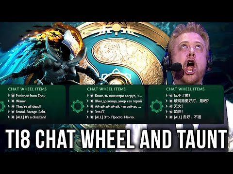 TI8 Chat Wheel is Back Again + New Stuff! + All Taunts - Preview Dota 2  Battle pass