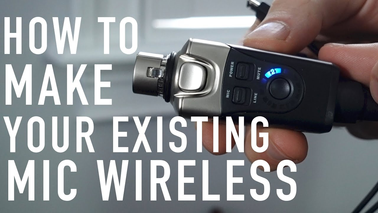 how to make your existing microphone wireless xvive u3 wireless microphone system demo youtube. Black Bedroom Furniture Sets. Home Design Ideas