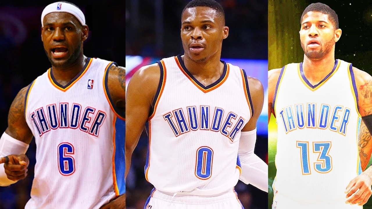 competitive price 562e5 c1d5b LeBron James Traded to Thunder after Carmelo Anthony Trade to Thunder!  LeBron James Joins Thunder