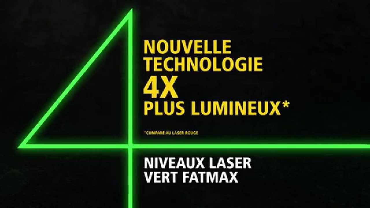 stanley fatmax niveau laser croix fcl vert youtube. Black Bedroom Furniture Sets. Home Design Ideas