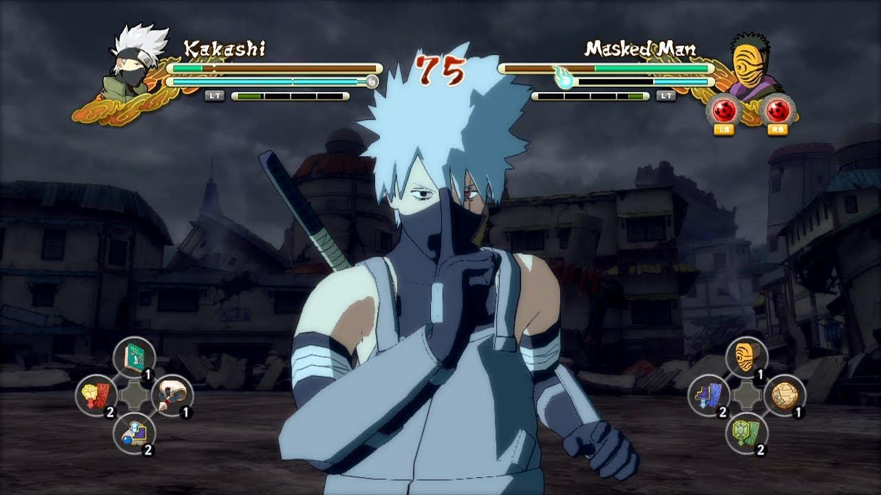 Naruto Vs Pain Wallpaper Hd Ps3 Anbu Kakashi Vs Masked Man Naruto Ultimate Ninja