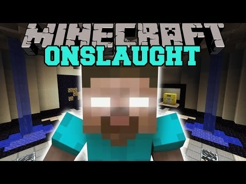 Minecraft: HEROBRINE'S ONSLAUGHT (SURVIVE WAVES OF HEROBRINE'S MINIONS!) Mini-Game