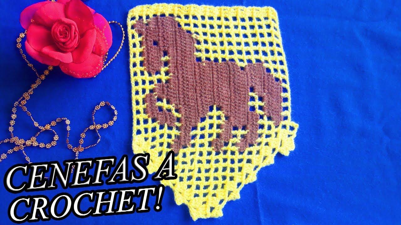 Cenefas a Crochet // Modelos de Flores, Animales y frutas! - YouTube