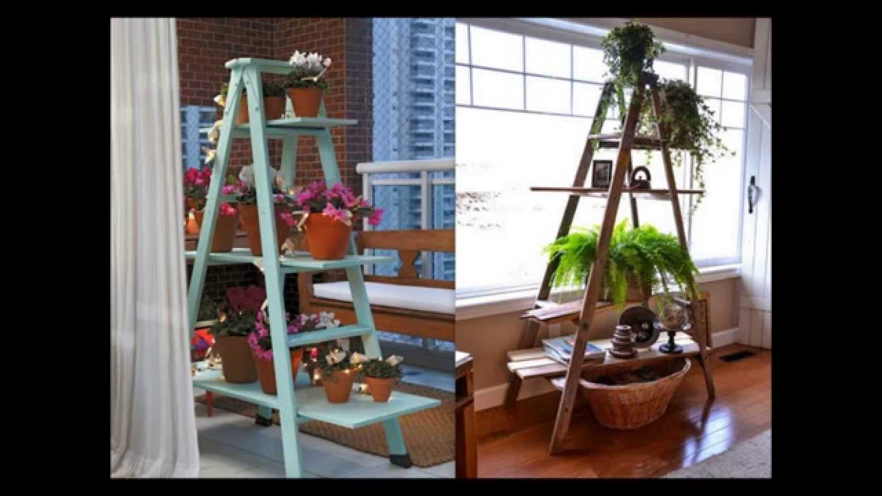 Ideas para reutilizar escaleras youtube for Escalera de bloque de jardin