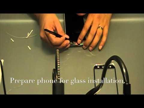 Samsung Galaxy Note II Glass Repair with OCA Film - Autoclave