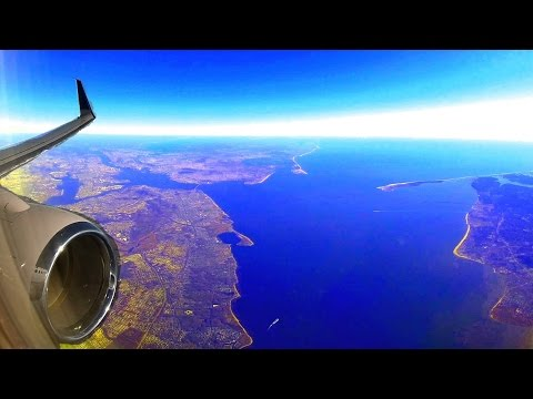 New York (EWR) - fantastic full take-off to St. Maarten with best view to NY and NJ