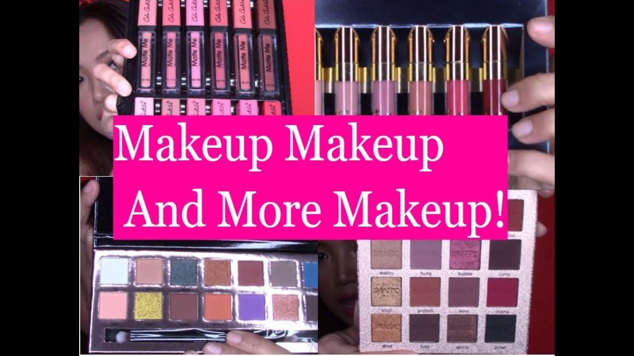 Shopee Makeup Haul Miss Rose Imagic Beauty Glazed Focallure Glitter And Glow Liquid Eyeshadow Glue More