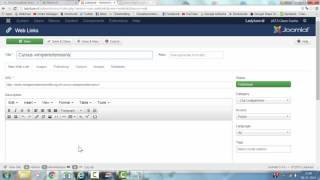 How to Use the Basic Joomla Weblinks component