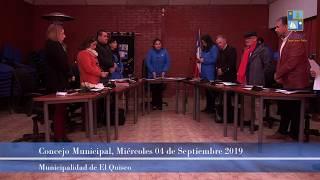 Concejo Municipal miércoles 04 de septiembre 2019