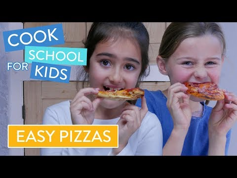 How To Make Homemade Pizzas With Kids | Channel Mum's Cook School For Kids