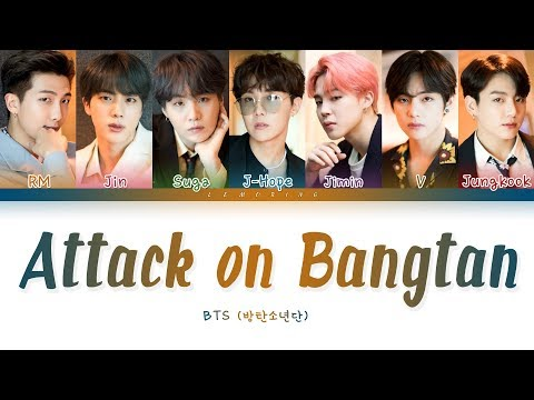 BTS - Attack on Bangtan ( -  ) [Color Coded Lyrics/Han/Rom/Eng/]